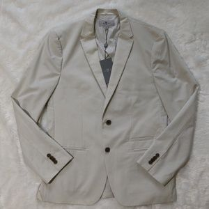 7FAM Cream 2-Button Blazer